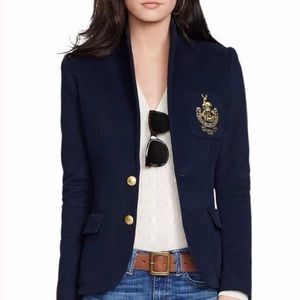 Ralph Lauren Polo Navy Varsity Blazer Jacket Coat
